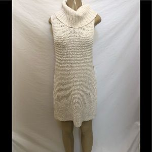 NWT Free People knit ivory turtleneck tunic XS